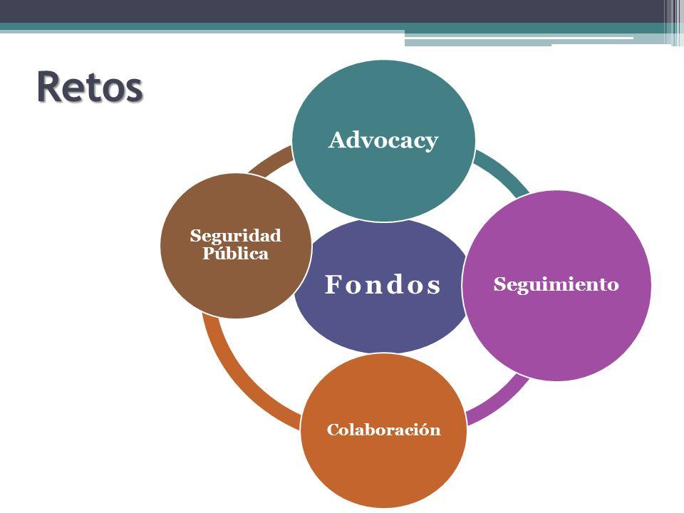 Retos Fondos Advocacy Seguimiento Colaboración Seguridad Pública