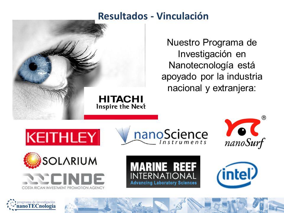 Nuestro Programa de Investigación en Nanotecnología está apoyado por la industria nacional y extranjera: Resultados - Vinculación