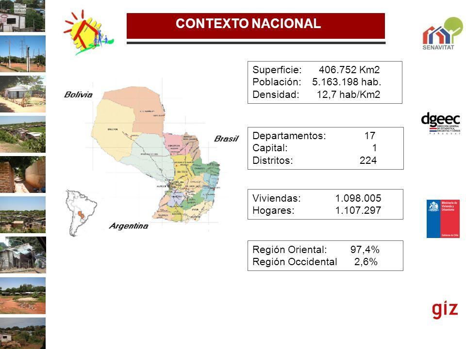 METOLOGIA DE INDETIFICACION Y CARACTERIZACIÓN La relevancia: Posibilidad de proveer de información diagnóstica precisa en relación al los asentamientos precarios en Paraguay Información relevante para definiciones de políticas públicas en materia de vivienda y hábitat.