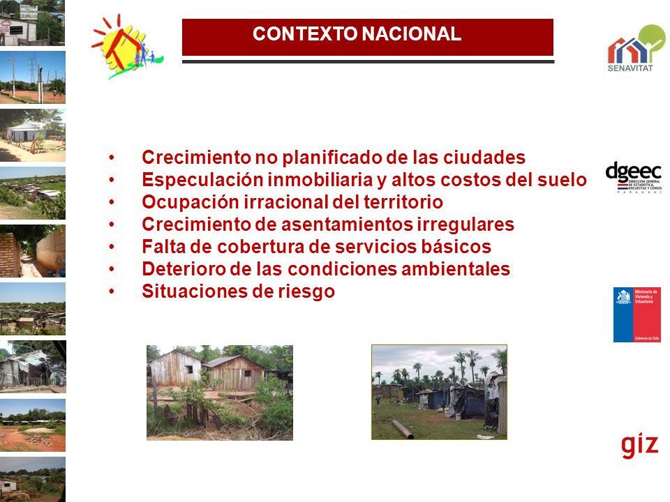 DEFICIT HABITACIONAL La elaboración de una investigación específica de medición del Déficit Habitacional de los Pueblos Originarios en el Paraguay, siguiendo esta metodología pero adaptada a su cultura.