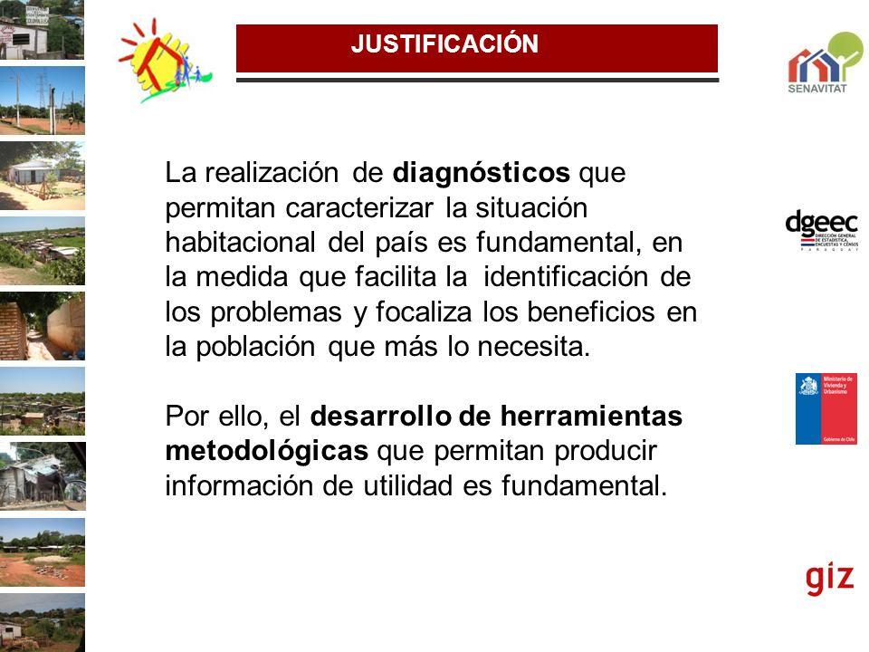 La realización de diagnósticos que permitan caracterizar la situación habitacional del país es fundamental, en la medida que facilita la identificació