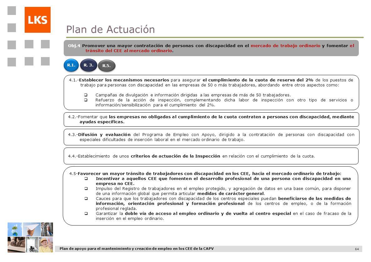 Plan de apoyo para el mantenimiento y creación de empleo en los CEE de la CAPV 64 4.2.-Fomentar que las empresas no obligadas al cumplimiento de la cu