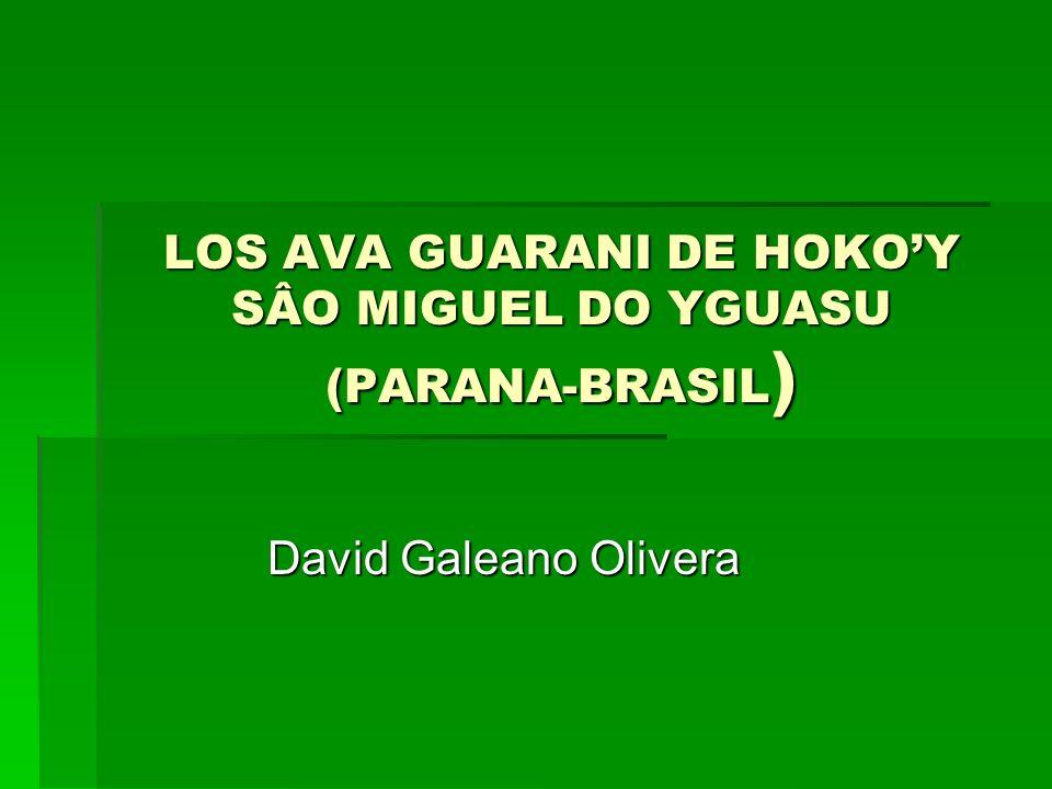 LOS AVA GUARANI DE HOKOY SÂO MIGUEL DO YGUASU (PARANA-BRASIL ) David Galeano Olivera