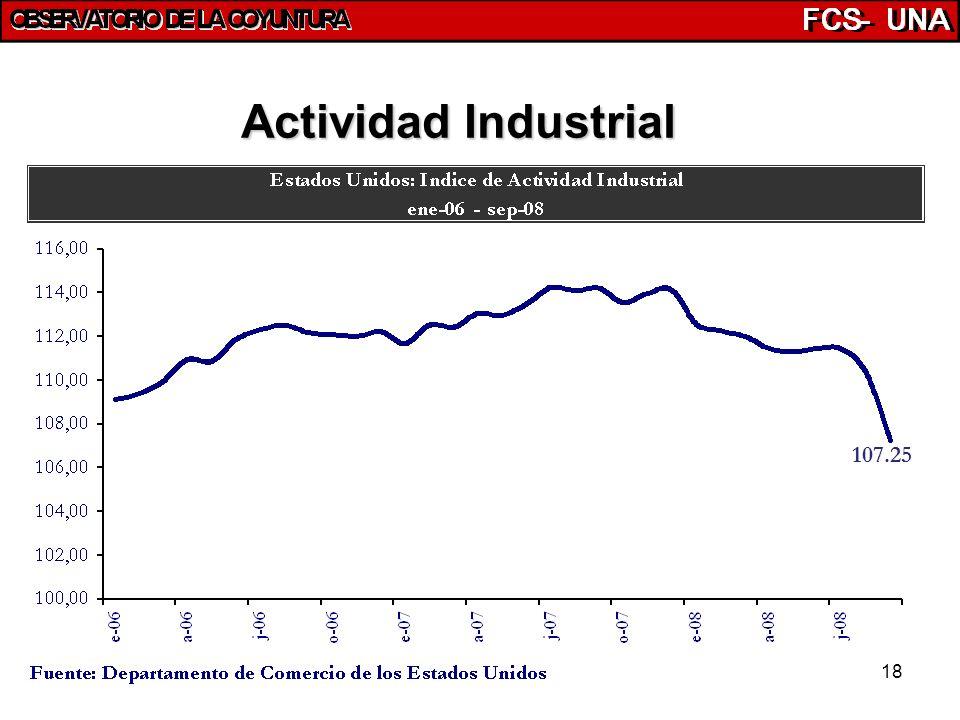 18 107.25 Actividad Industrial