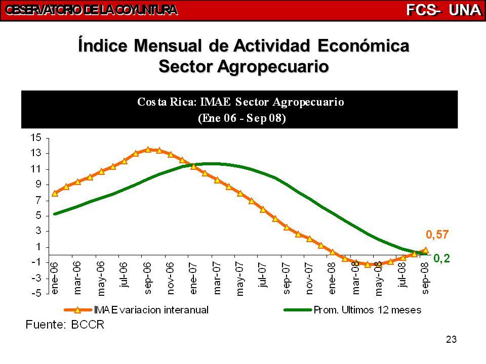 23 Índice Mensual de Actividad Económica Sector Agropecuario