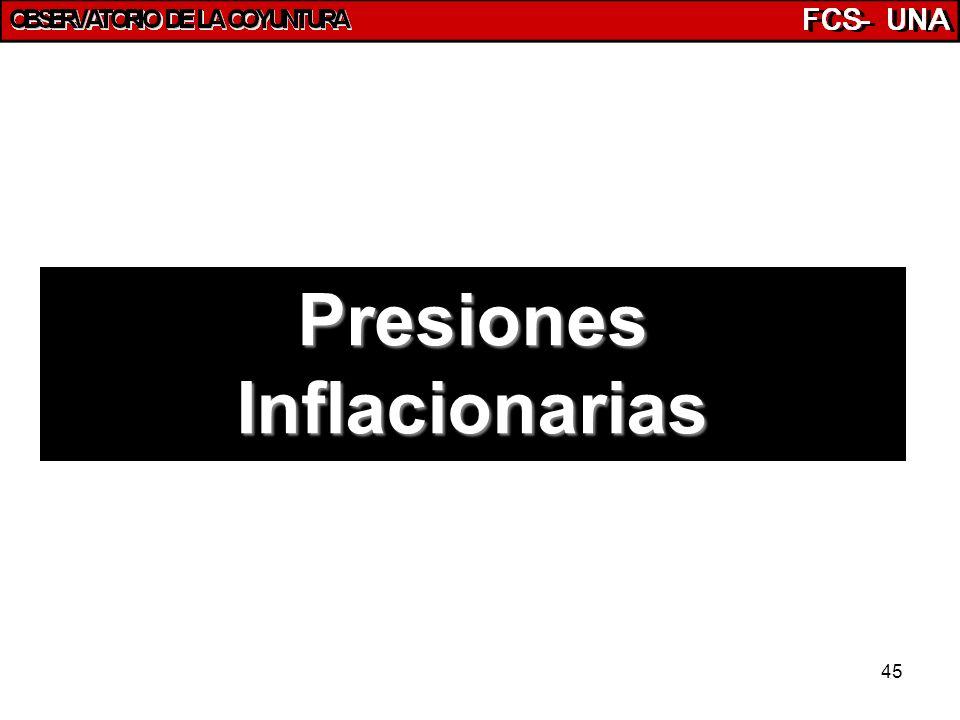 45 Presiones Inflacionarias