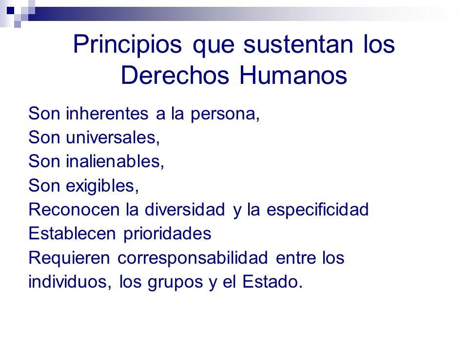 Dimensiones de los Derechos Humanos Ética y moral: Conjuga las aspiraciones diversas a una vida, digna, buena y justa, a partir del acuerdo, la regulación y la corresponsabilidad.