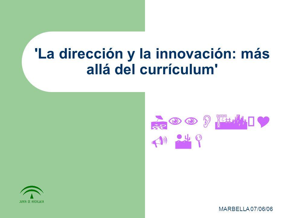 MARBELLA 07/06/06 La dirección y la innovación: más allá del currículum