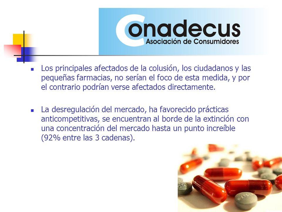 Los principales afectados de la colusión, los ciudadanos y las pequeñas farmacias, no serían el foco de esta medida, y por el contrario podrían verse afectados directamente.