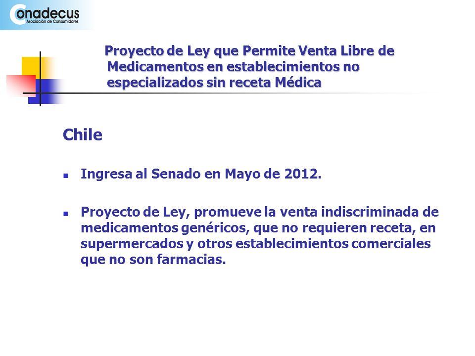 Chile Ingresa al Senado en Mayo de 2012.