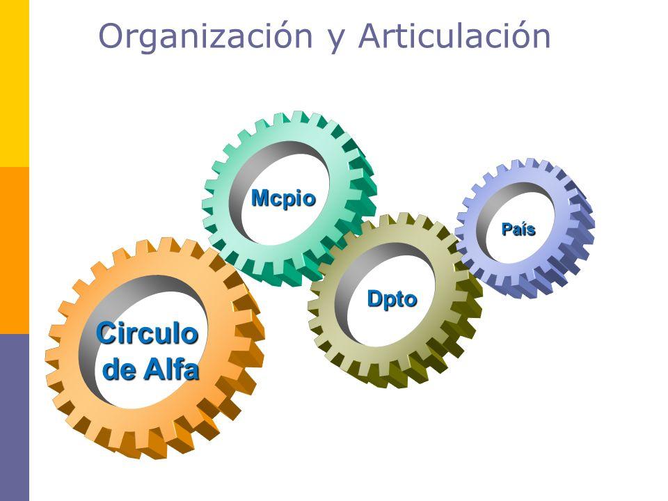 Organización y Articulación Circulo de Alfa de Alfa Dpto Mcpio País