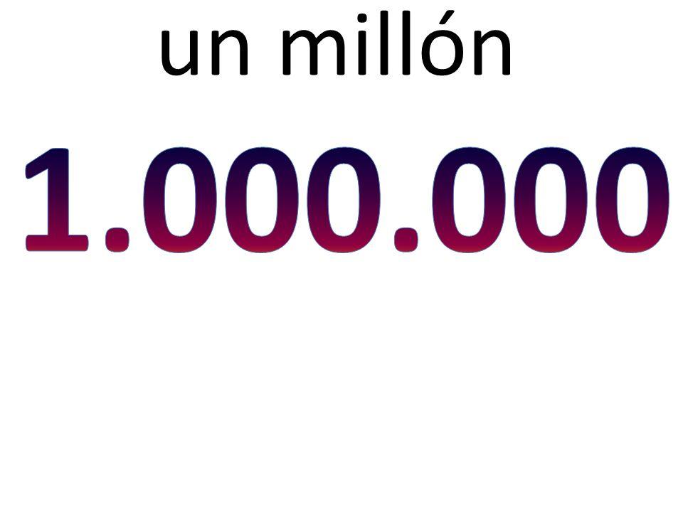 un millón
