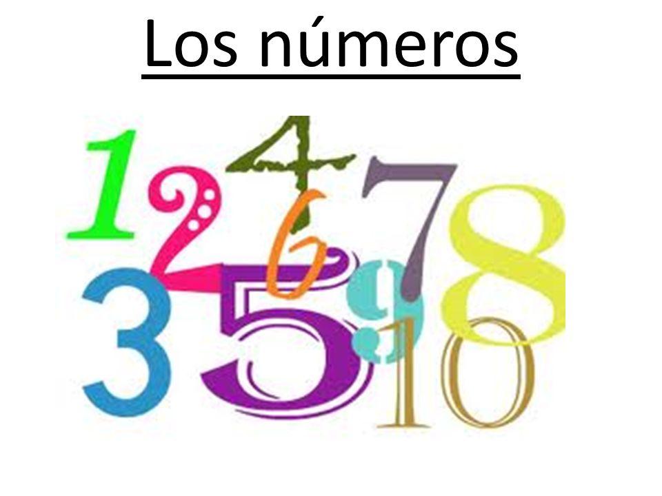 Puntos importantes sobre los números Periods are used instead of commas for thousands and millions – 1.968 = mil novecientos sesenta y ocho – 1.000.562 = un millón quinientos sesenta y dos.