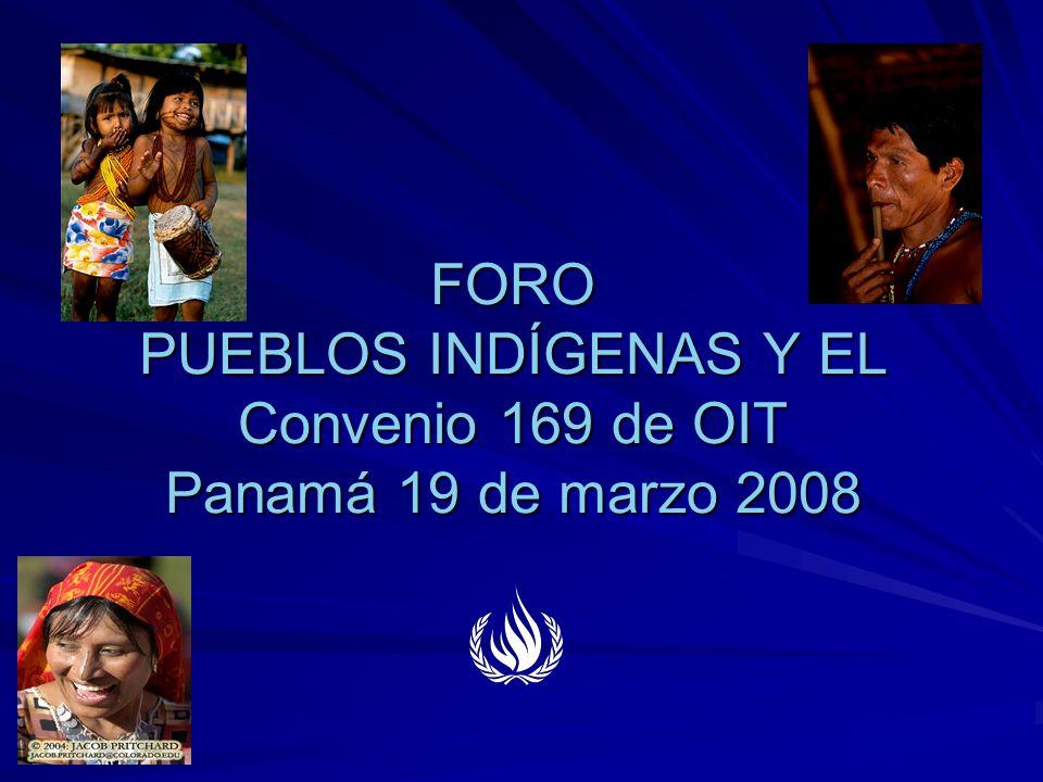 FORO PUEBLOS INDÍGENAS Y EL Convenio 169 de OIT Panamá 19 de marzo 2008 FORO PUEBLOS INDÍGENAS Y EL Convenio 169 de OIT Panamá 19 de marzo 2008