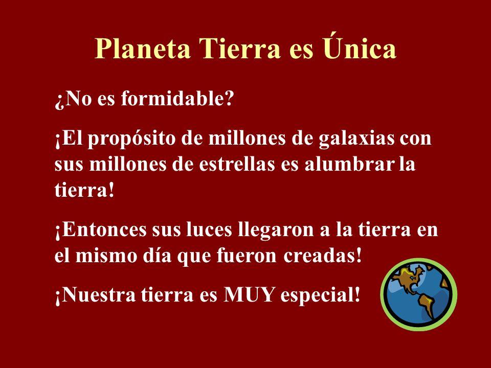 Planeta Tierra es Única ¿No es formidable.