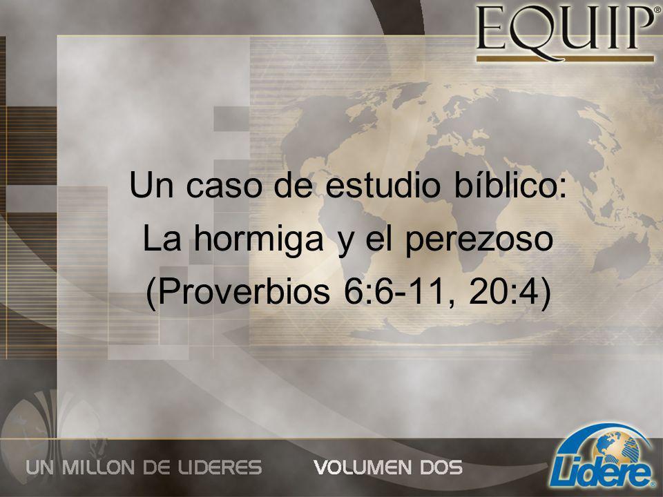 Un caso de estudio bíblico: La hormiga y el perezoso (Proverbios 6:6-11, 20:4)