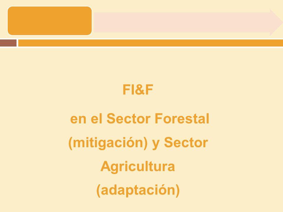 Opciones de mitigación en Sector forestal Reducción de emisiones GEI.