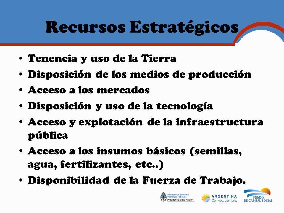 Recursos Estratégicos Capacidades, saberes y habilidades de la mano de obra disponible.