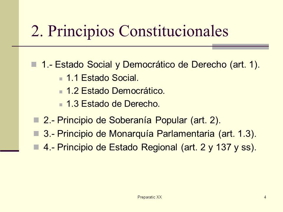 Preparatic XX4 2.Principios Constitucionales 1.- Estado Social y Democrático de Derecho (art.
