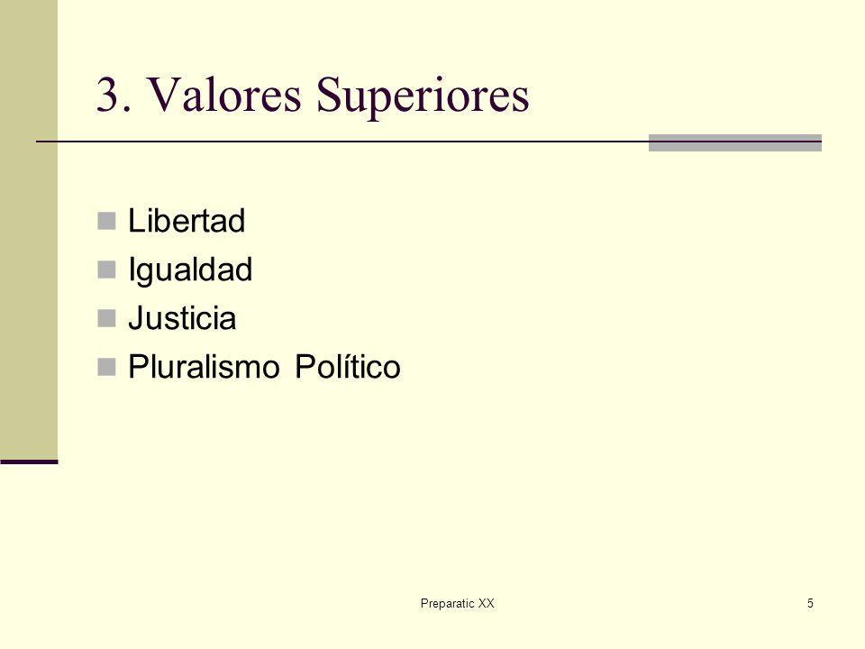 Preparatic XX5 3. Valores Superiores Libertad Igualdad Justicia Pluralismo Político