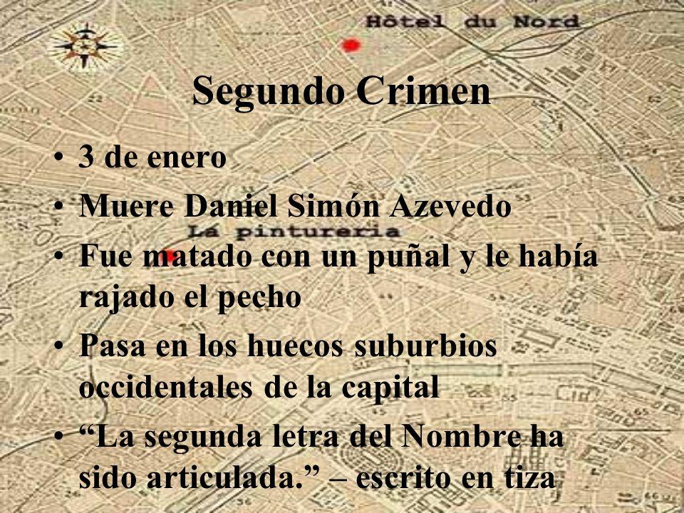Segundo Crimen 3 de enero Muere Daniel Simón Azevedo Fue matado con un puñal y le había rajado el pecho Pasa en los huecos suburbios occidentales de l