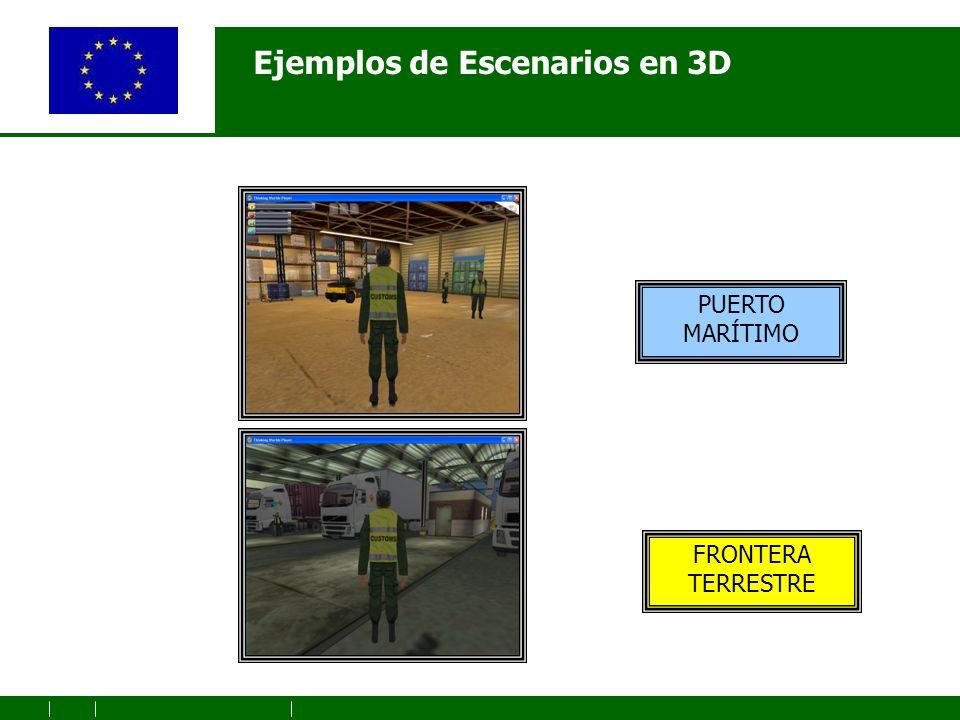 Ejemplos de Escenarios en 3D PUERTO MARÍTIMO FRONTERA TERRESTRE