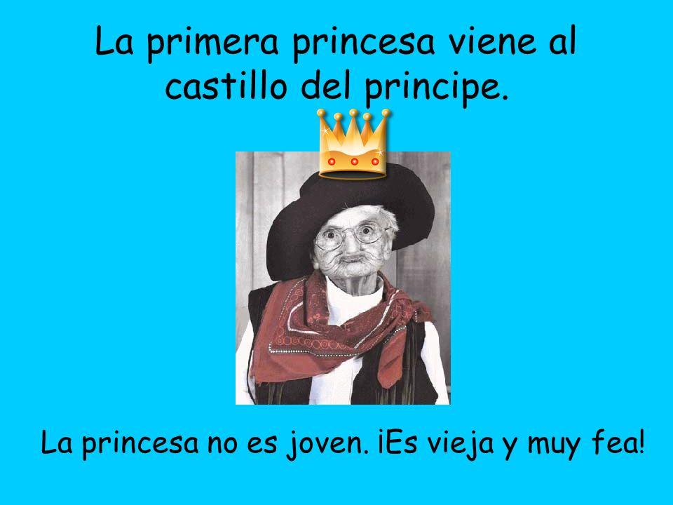 La princesa no es joven. ¡Es vieja y muy fea!