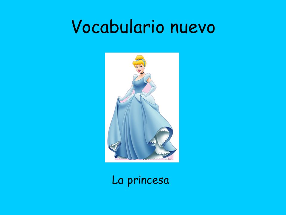 Vocabulario nuevo El príncipe