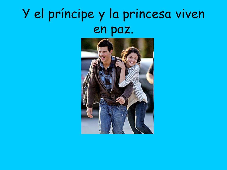 Y el príncipe y la princesa viven en paz.