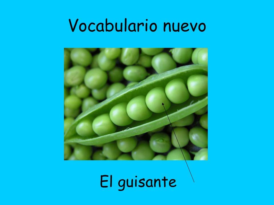 Vocabulario nuevo El guisante