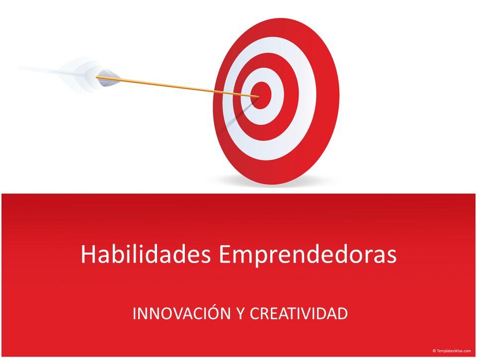 Creatividad Pensar / actuar diferente para conseguir que ocurra algo nuevo.