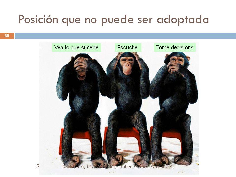 Posición que no puede ser adoptada Rubén Gómez Sánchez S. Director Proyecto PERÚ 2040 39