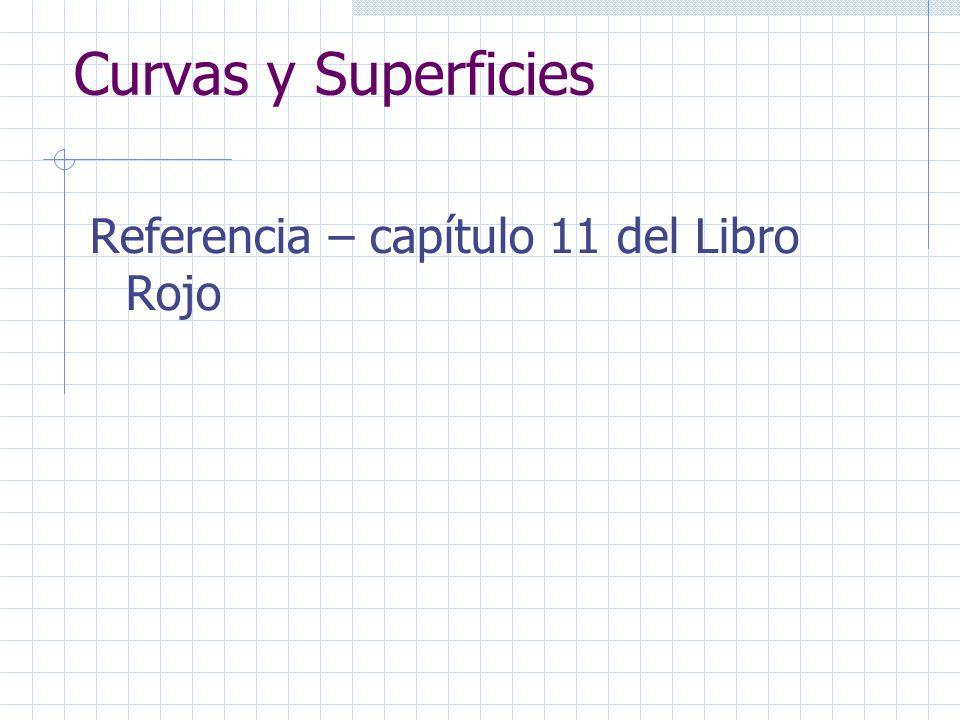 Curvas y Superficies Referencia – capítulo 11 del Libro Rojo