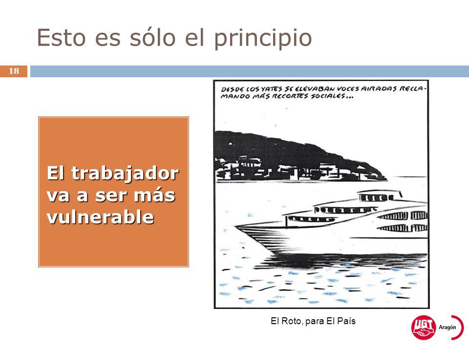 Esto es sólo el principio 18 El trabajador va a ser más vulnerable El Roto, para El País