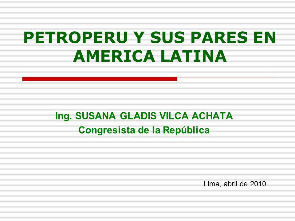 EMPRESAS PUBLICAS DEL SECTOR HIDROCARBUROS EN AMERICA LATINA Bolivia México Colombia Brasil Venezuela Chile Perú