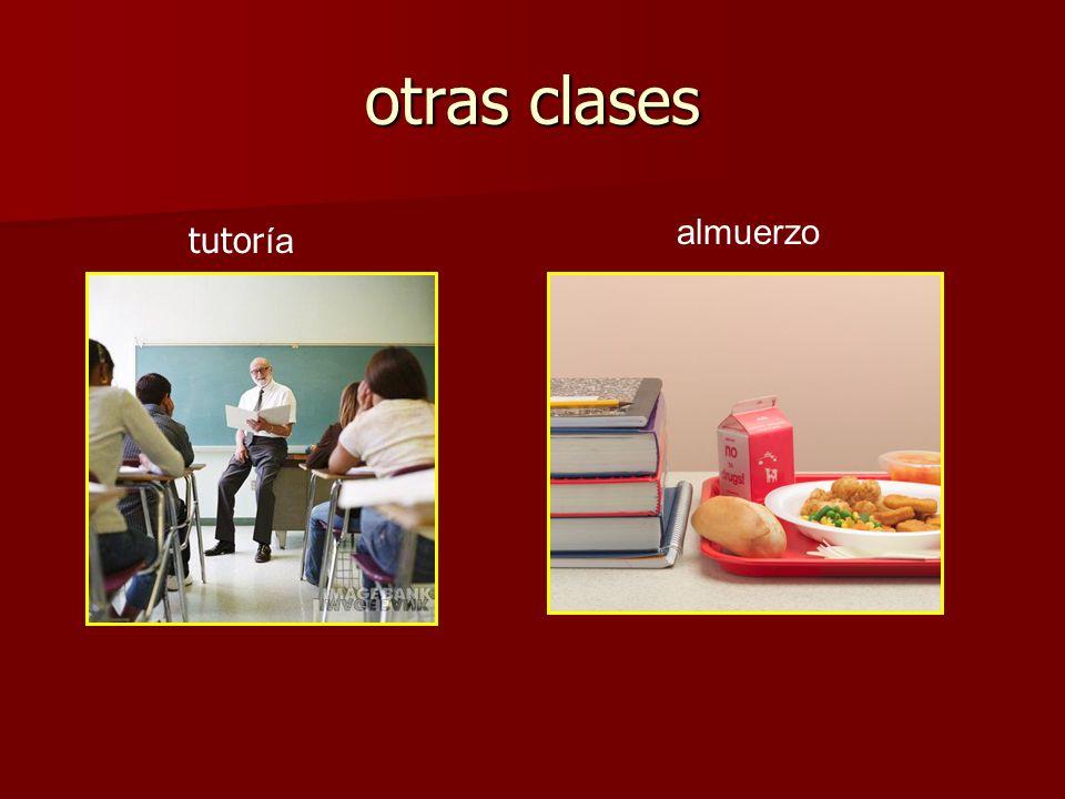 otras clases tutor ía almuerzo