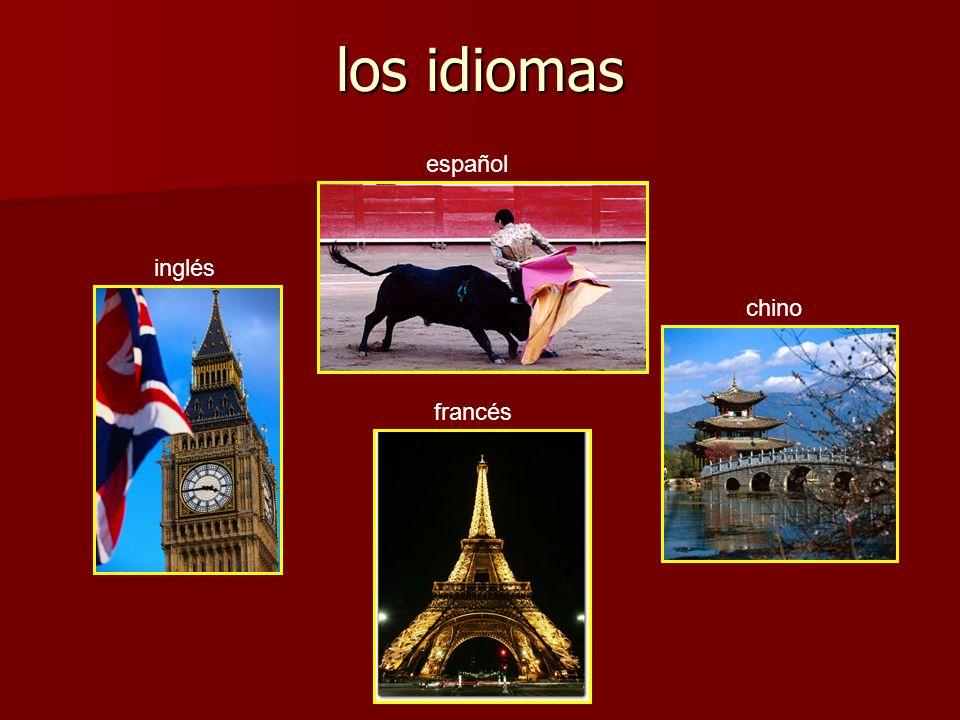 los idiomas español inglés francés chino
