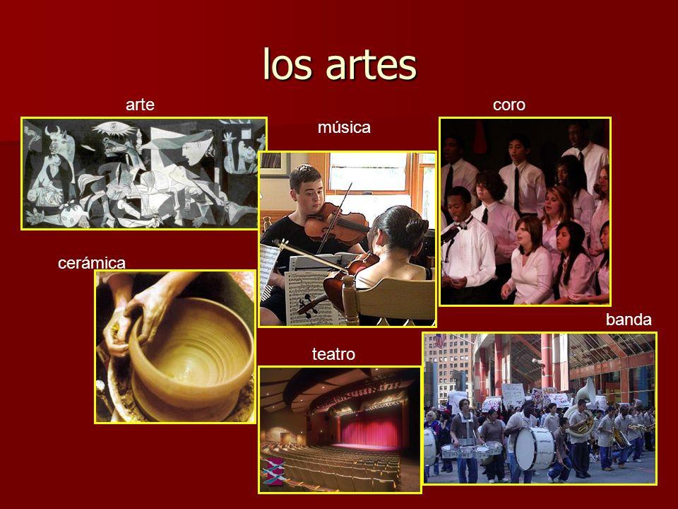 los artes arte banda coro música cerámica teatro