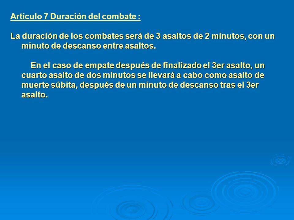 Artículo 8 Sorteo : El sorteo se realizará 1 ó 2 días antes del primer día de competición.