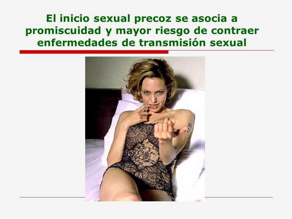 El inicio sexual precoz se asocia a promiscuidad y mayor riesgo de contraer enfermedades de transmisión sexual