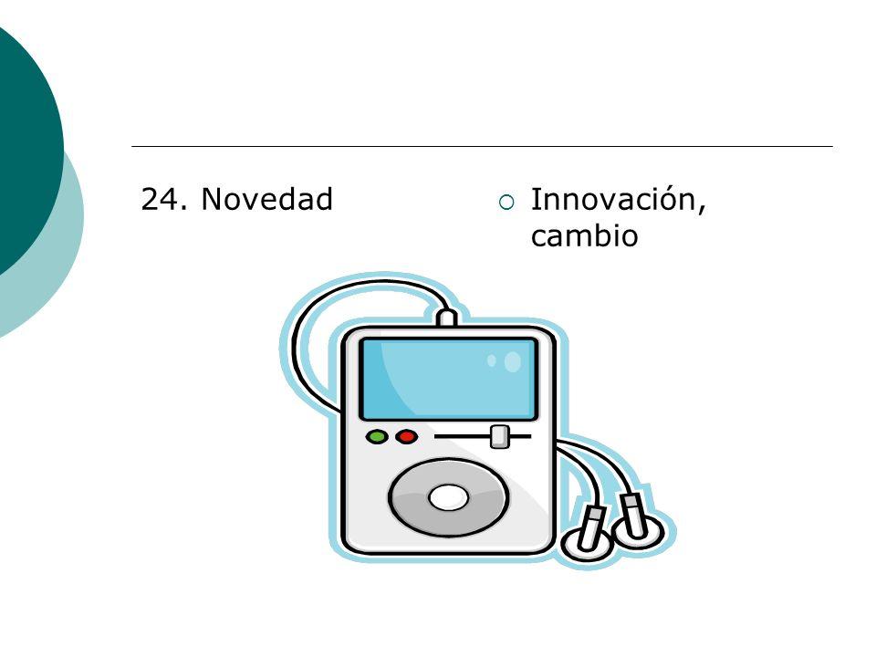 24. Novedad Innovación, cambio