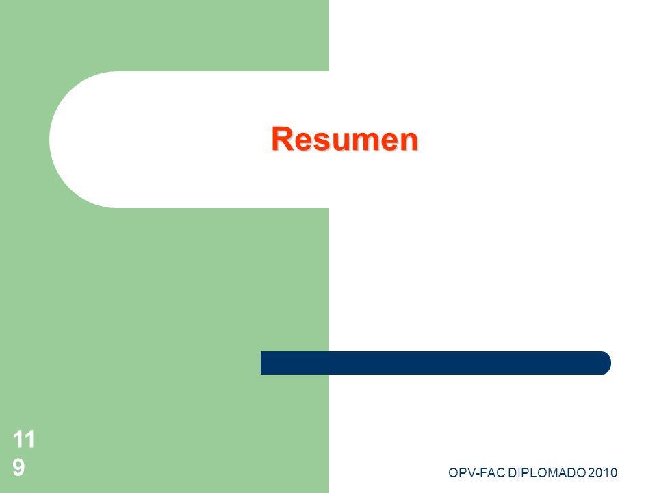 OPV-FAC DIPLOMADO 2010119 Resumen