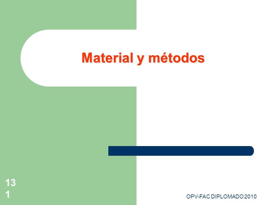OPV-FAC DIPLOMADO 2010131 Material y métodos