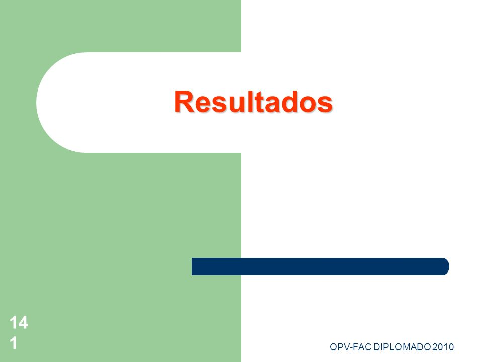 OPV-FAC DIPLOMADO 2010141 Resultados