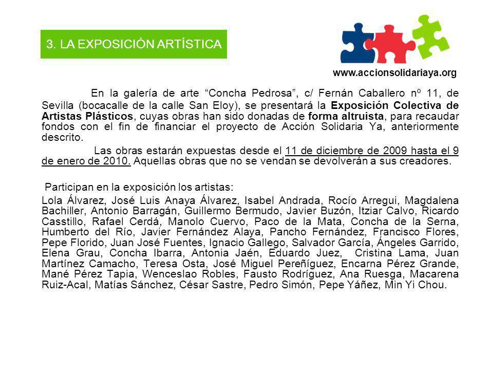 En la galería de arte Concha Pedrosa, c/ Fernán Caballero nº 11, de Sevilla (bocacalle de la calle San Eloy), se presentará la Exposición Colectiva de