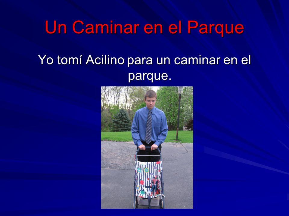 Un Caminar en el Parque Yo tomí Acilino para un caminar en el parque.