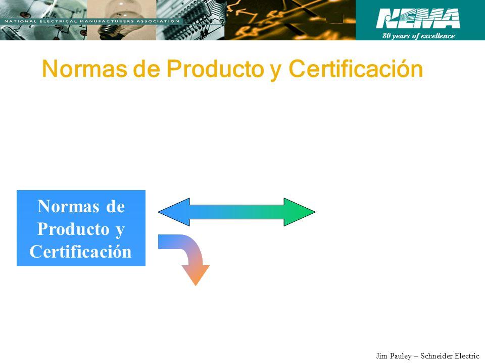 80 years of excellence Jim Pauley – Schneider Electric Normas de Producto y Certificación