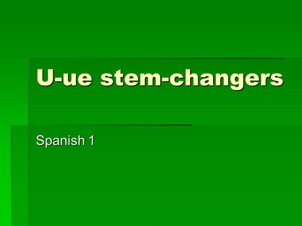 U-ue stem-changers Spanish 1