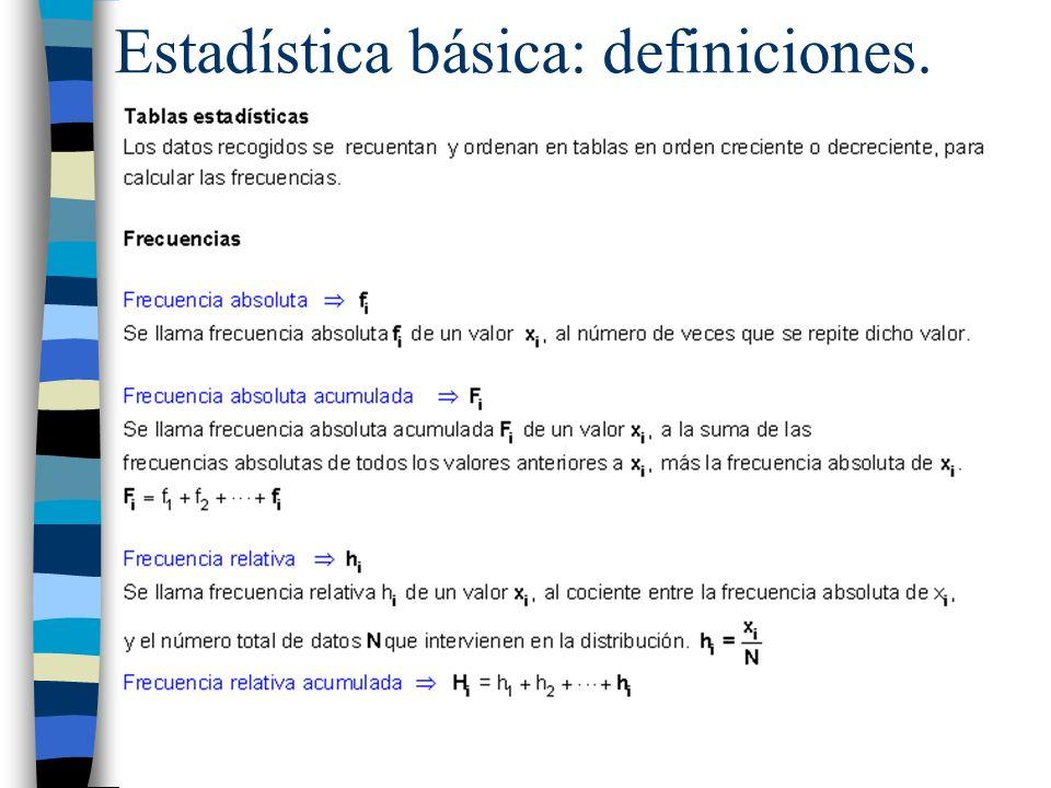 Estadística básica: definiciones.