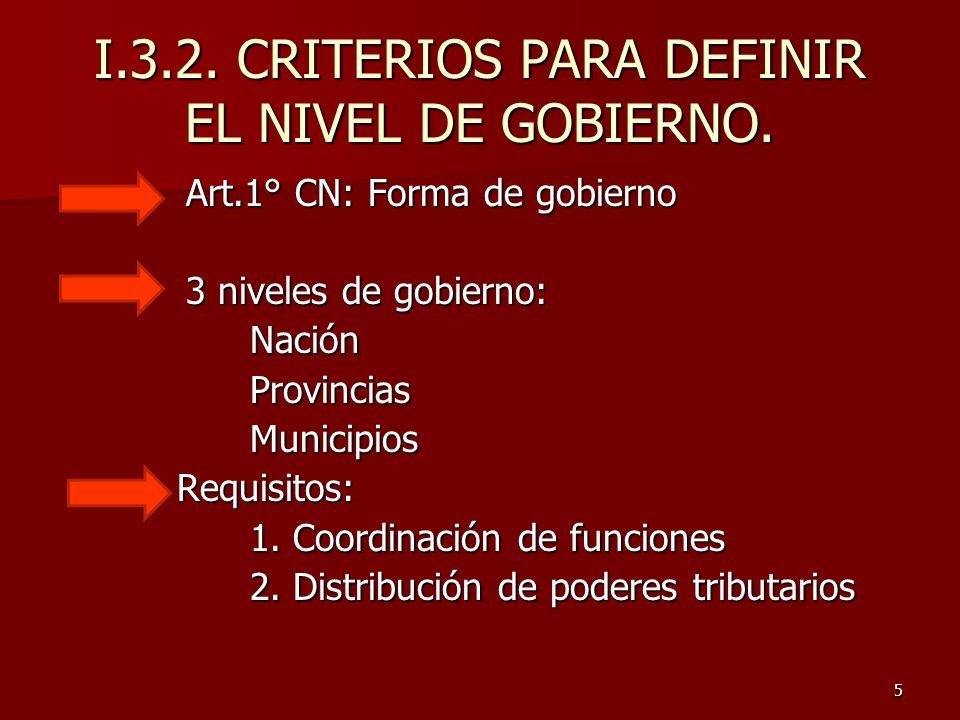 6 Funciones de Gobierno Según Richard Musgrave: a) Función clásica: prestación de bienes y serv.